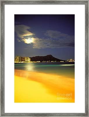 Diamond Head And Waikiki Framed Print by William Waterfall - Printscapes
