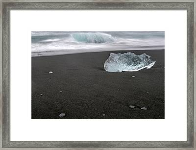 Framed Print featuring the photograph Diamonds Floating In Beaches, Iceland by Pradeep Raja PRINTS