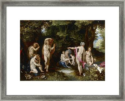 Diana And Actaeon Framed Print