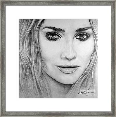 Diane Kruger Framed Print by Roy Anthony Kaelin