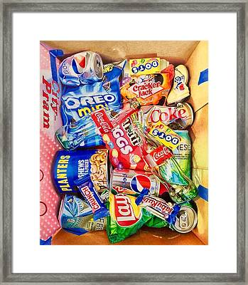 Dibs On The Baby Ruth Framed Print