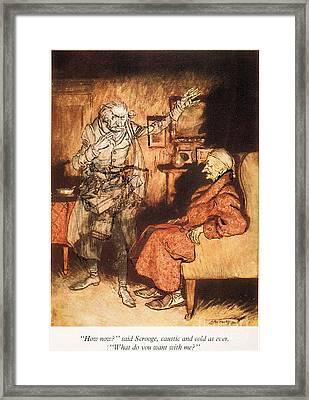 Dickens: A Christmas Carol Framed Print