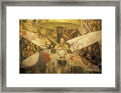 Diego Rivera Mural Mexico City Framed Print by John  Mitchell
