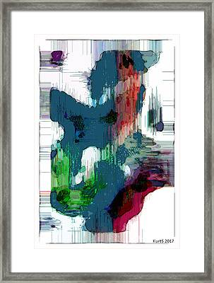 Digital Abstract Expression #005 Framed Print