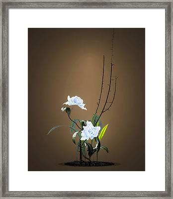 Digital Flower Arrangement Framed Print