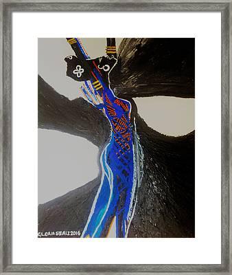 Dinka In Blue - South Sudan Framed Print by Gloria Ssali