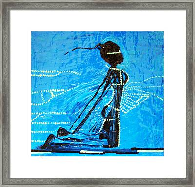 Dinka Lady - South Sudan Framed Print