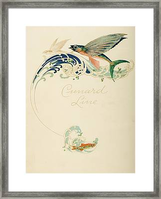 Dinner Menu. Cunard Line. R.m.s Framed Print by Vintage Design Pics