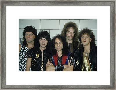 Dio Backstage At The Spectrum Framed Print by Rich Fuscia