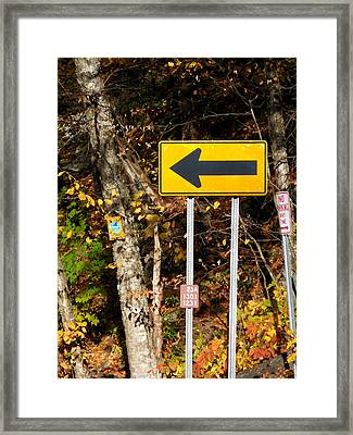 Directional Arrow Road Signs 2 Framed Print by Lanjee Chee