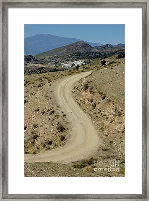 Dirt Road Winding Framed Print by Sami Sarkis