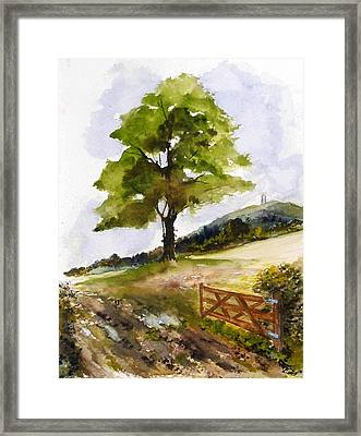 Distant Tor Framed Print by Sibby S