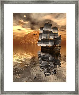 Distant Voyage 2 Framed Print by Claude McCoy