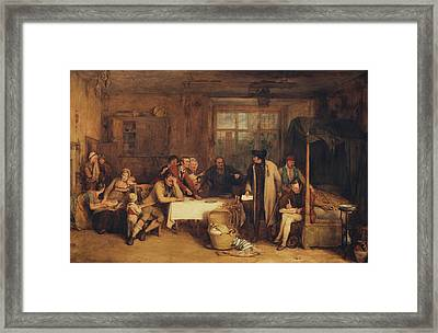 Distraining For Rent Framed Print by Sir David Wilkie