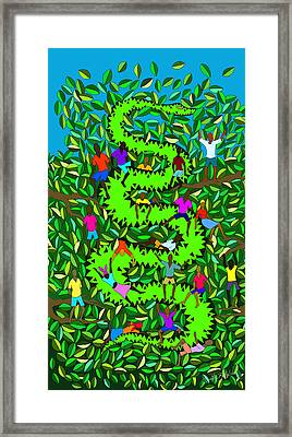 Divine Serpent Framed Print by Dimitri Beaulieu