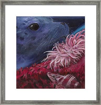 Diving Among Seaweed Framed Print by Kirsten Carlson