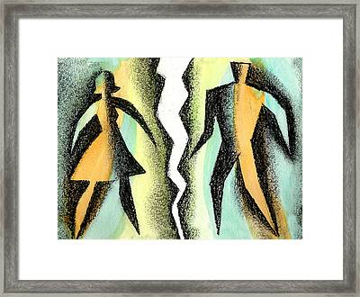 Divorce Framed Print by Leon Zernitsky