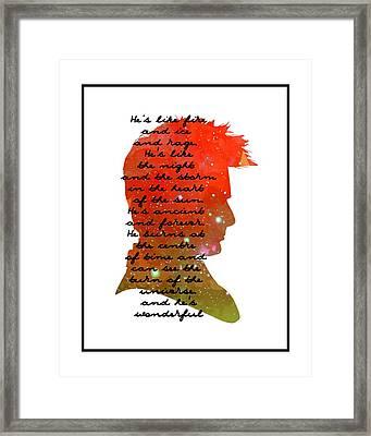 Doctor Who Inspired Tenth Doctor Art  Framed Print