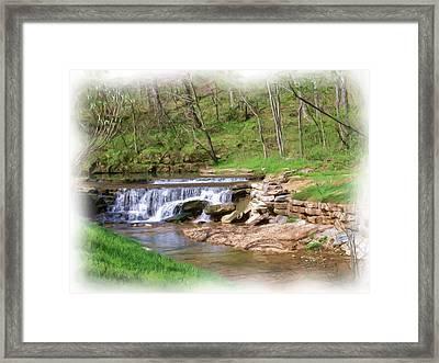Dogwood Canyon Waterfall 2 Framed Print