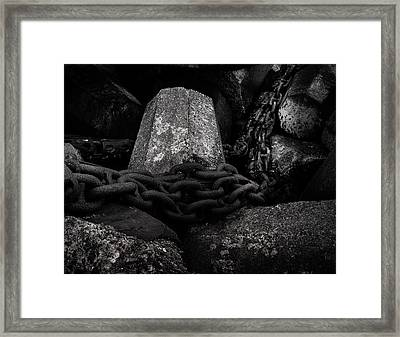 Dolosse And Chains Black And White Framed Print by TL Mair
