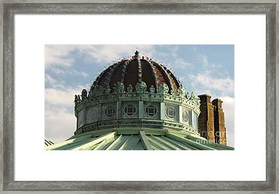 Dome On The Asbury Park Casino Framed Print by Ben Schumin
