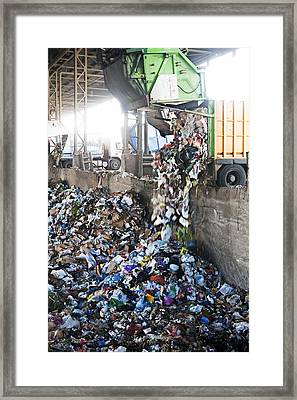 Domestic Waste Treatment Centre Framed Print by Photostock-israel