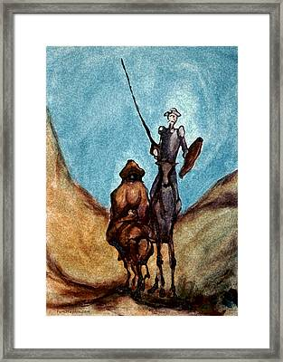 Don Quixote  Framed Print by Kevin Middleton