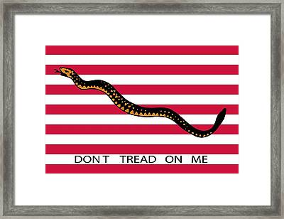 Don't Tread On Me Framed Print