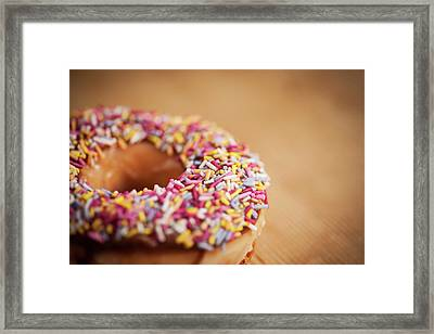 Donut And Sprinkles Framed Print