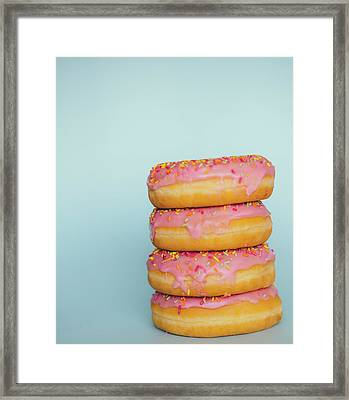Donuts Framed Print by Happy Home Artistry