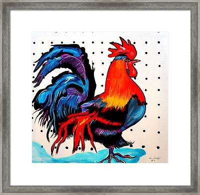 Doodle Do Rooster Framed Print