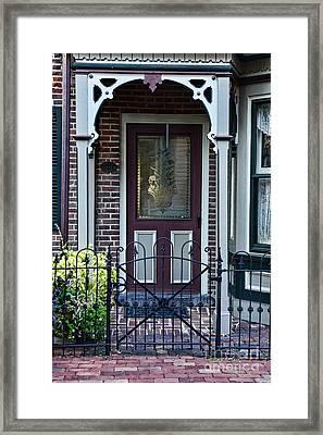 Door - Curb Appeal Framed Print by Paul Ward