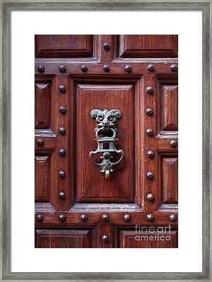 Door Knocker Framed Print by Carlos Caetano