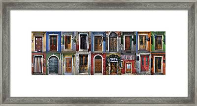 doors and windows of Burano - Venice Framed Print