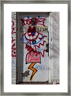 Doorway Wiiliamsburg Brooklyn Framed Print by Robert Ullmann