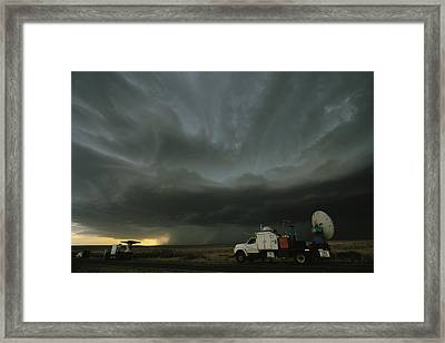 Doppler On Wheels Radar Trucks Wait Framed Print