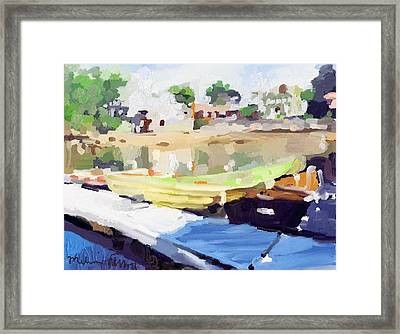Dories At Beacon Marine Basin Framed Print by Melissa Abbott