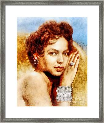 Dorothy Dandridge, Vintage Hollywood Legend Framed Print by John Springfield