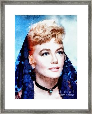 Dorothy Malone, Vintage Hollywood Actress Framed Print