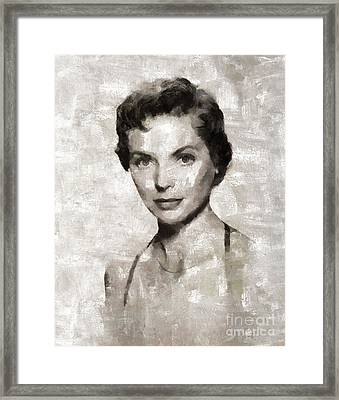 Dorothy Mcguire Vintage Hollywood Actress Framed Print by Mary Bassett