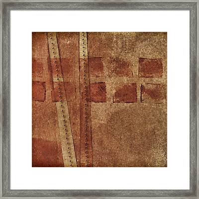 Dotted Squares Mixed Media 1 Framed Print