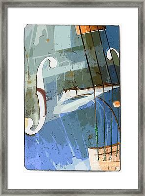 Double Bass Framed Print