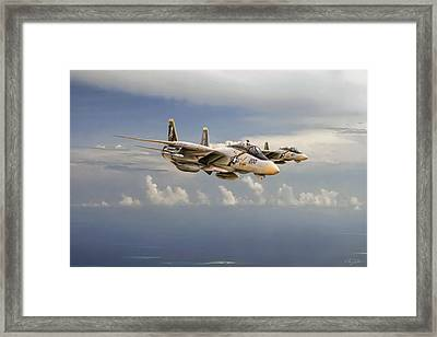 Double Trouble Framed Print by Peter Chilelli