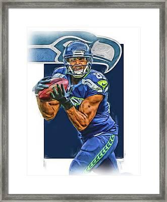 Doug Baldwin Seattle Seahawks Oil Art Framed Print