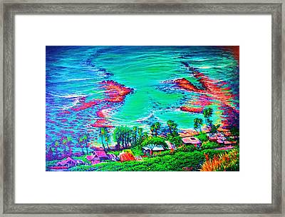 Down Diamond Head Drive Framed Print