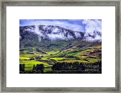 Down In The Valley Framed Print by Rick Bragan