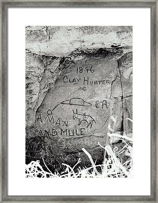 Framed Print featuring the photograph Down On The Blue River by Juls Adams