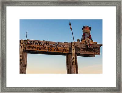 Down The Shore Framed Print by Kristopher Schoenleber