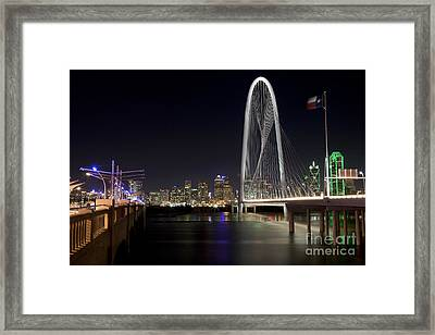 Downtown Dallas, Texas At Night Framed Print by Anthony Totah