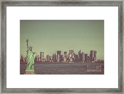 Downtown Manhattan Framed Print by Patricia Hofmeester